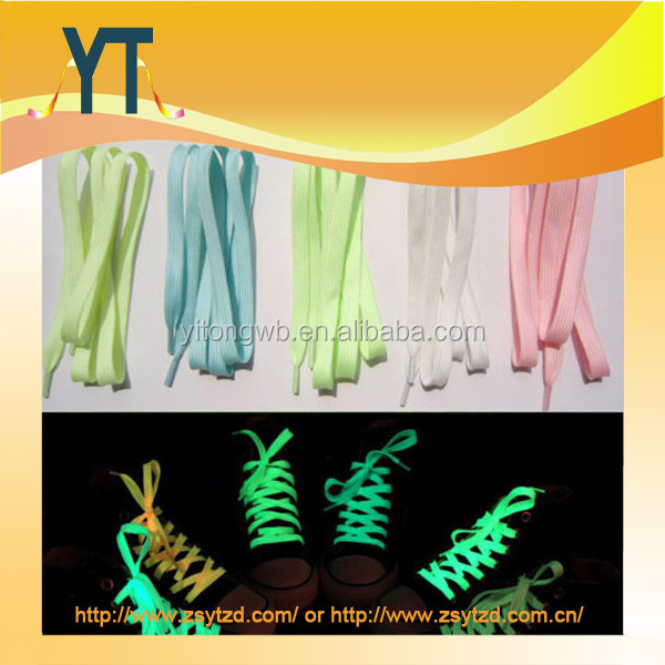 HOT 2015 New Sport Luminous Shoelace Glow Fluorescent Sneaker Flat Shoe Laces Strings Athletic Shoes Party Camping