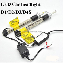 Auto Lighting System r4 12v 3600lm 30w d1s d2s d3s d4s led head lights conversion which can 90 degree adjust angle