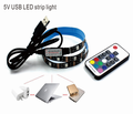 Colorful smd 5050 30 leds RGB flexible tv backlight 5v led strip light usb with remote control