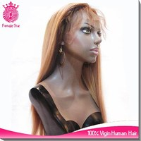 honey blonde lace front wigs 613/27 color side bang ponytail lace front wig with baby hair