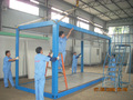 High quality steel structure container house for temporary warehouse