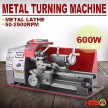 600W Metal Mini Lathe Metalworking Woodworking Power Tool Turning Machine