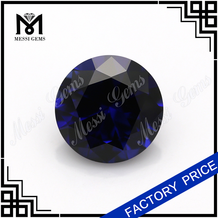 synthetic corundum stones #34 round blue corundum in 10mm