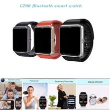 China popular custom smart watch phone, bluetooth GT08 smartwatch 2017