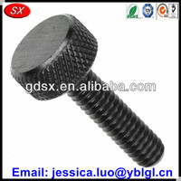 ISO9001:2008 OEM service black anodized 6061/6063/5052/7075 aluminum knurled cap screw with hex socket
