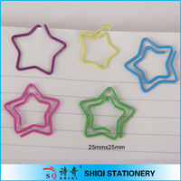 stationery fastener mini colorful star shape paper clip