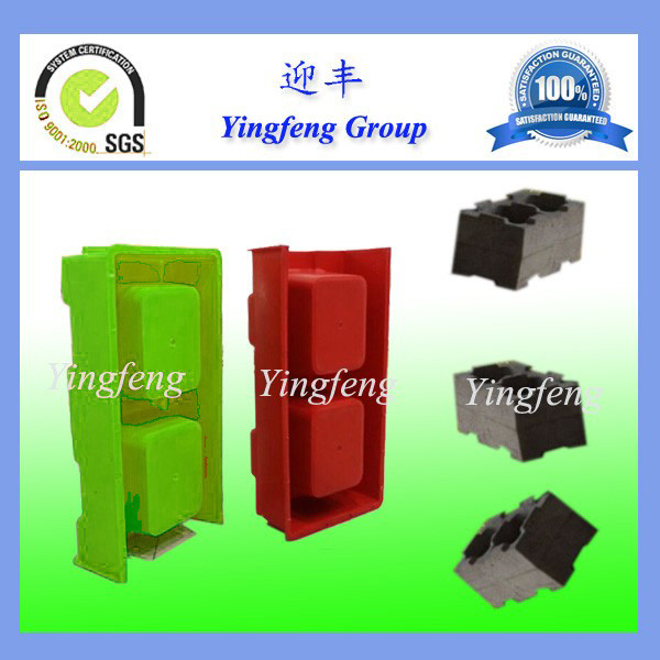 Yingfeng manual concrete hollow block mold,plastic block mold with easy operating