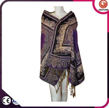 paisly printed lady pashmina scarf 34 colors