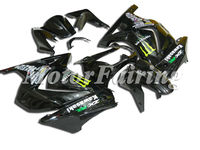 for kawasaki 250 ninja 250r fairing ninja ex250 bodykit ex 250 2008-2009 motorcycle 08-09 ninja 250r accessories black monster