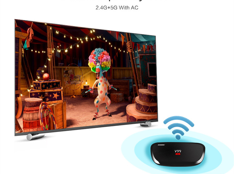 2019 Best price of V99 star RK3368 2G 16G 1080p full hd receiver v99 Android5.1 wholesale android smart tv ott 5.1tv box