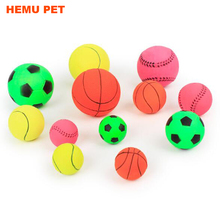 2017 hemu mini tennis ball assorted rubber soccer basketballs puppy small dog toy for pet