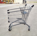 125litre European style supermarket shopping carts for store