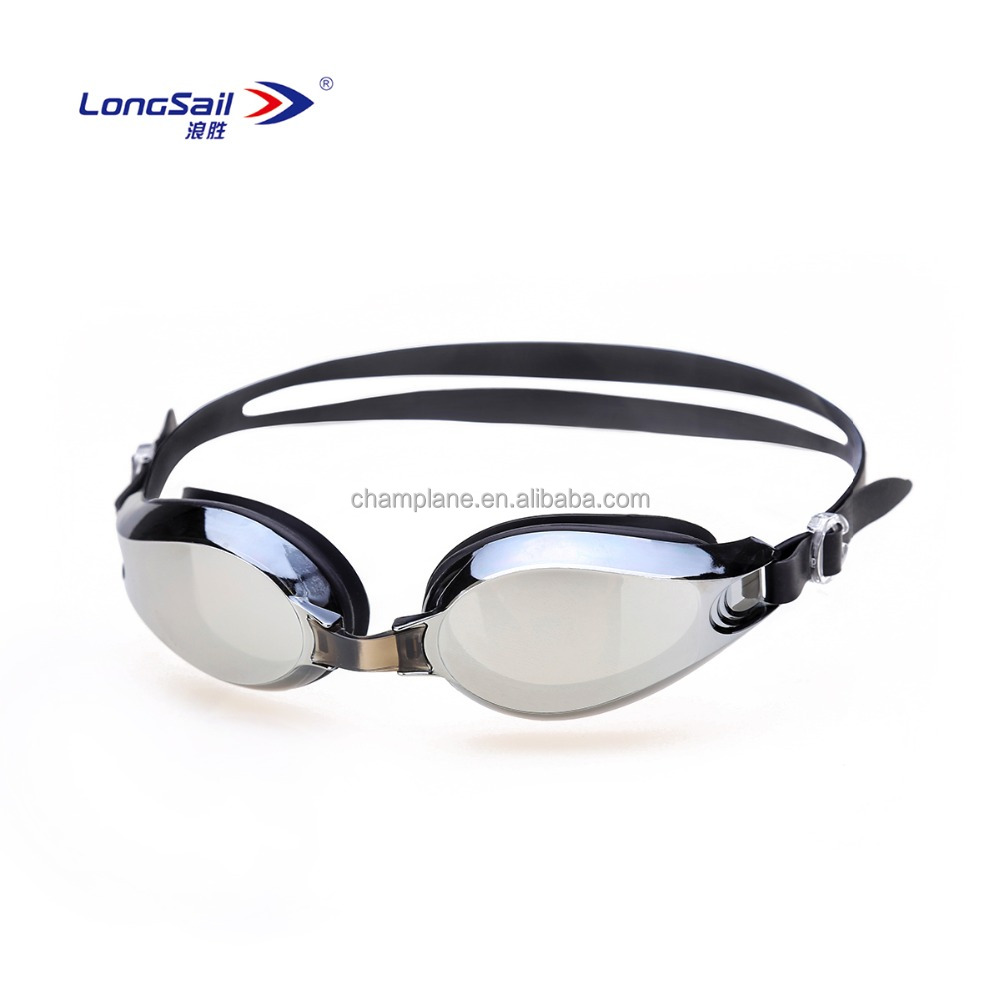Anti fog factory direct selling swimming glasses electroplate sports goggles