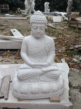 hand carved white marble stone buddha figure statue sculpture