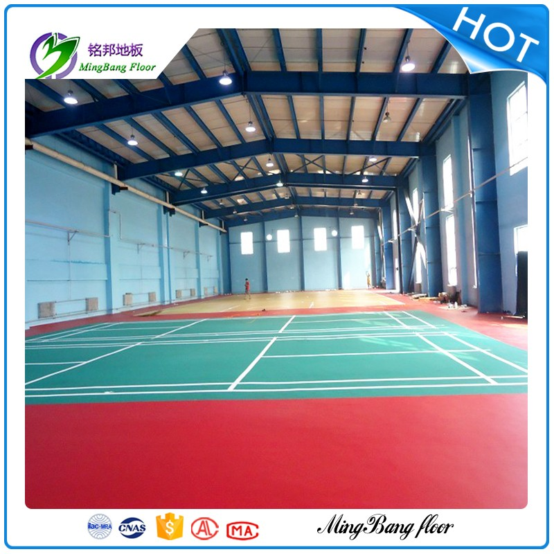 PVC Flooring China Supplier Sport Badminton Court Wood Flooring