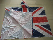 The British pvc flag poncho/British rain coat/PVC Rainwear