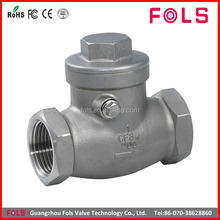 High pressure stainless steel SS 304 316 swing check valve