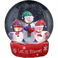 QI Ling top xmas inflatable snow globe for sale