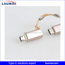 Best selling usb 2.0 Micro+type c cable 2 in 1 type c power cable electrical cable