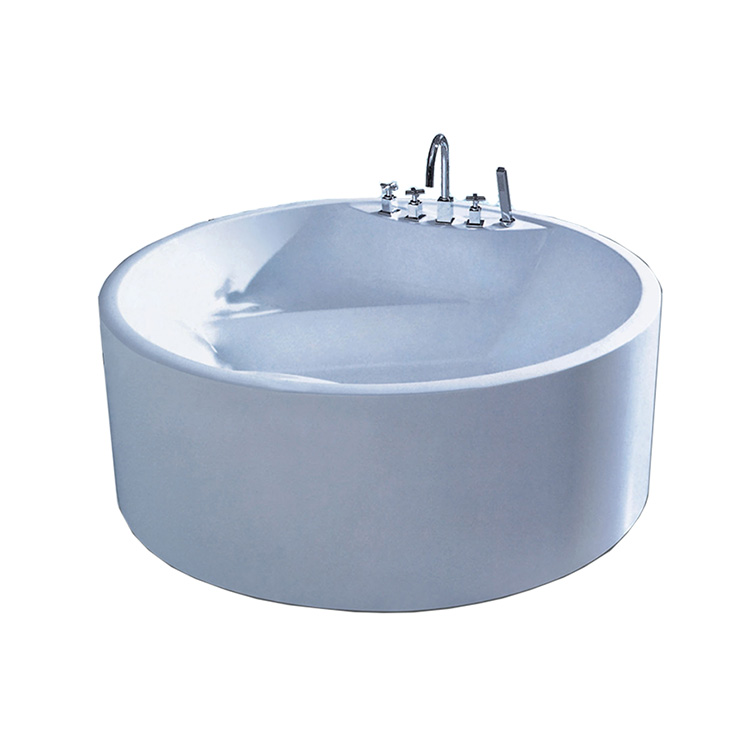 Modern Design Free standing Acrylic BathTub Round Bathtub Made In China NO.AT-001-1