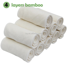 Low moq 4layers bamboo terry reusable baby cloth pocket nappy bamboo diaper insert