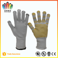 FT SAFETTY 13G Nylon Knitted Anti-Skid Safety Glove With Yellow PVC Dots