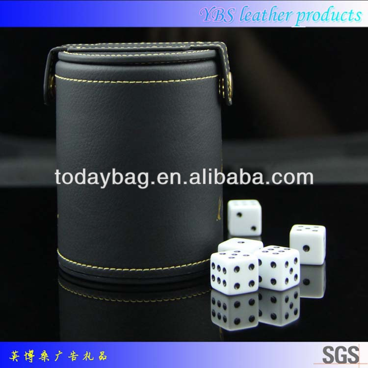 factory price leather dice cup for saloon (2).jpg