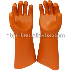orange live working 410mm customized natural rubber gloves
