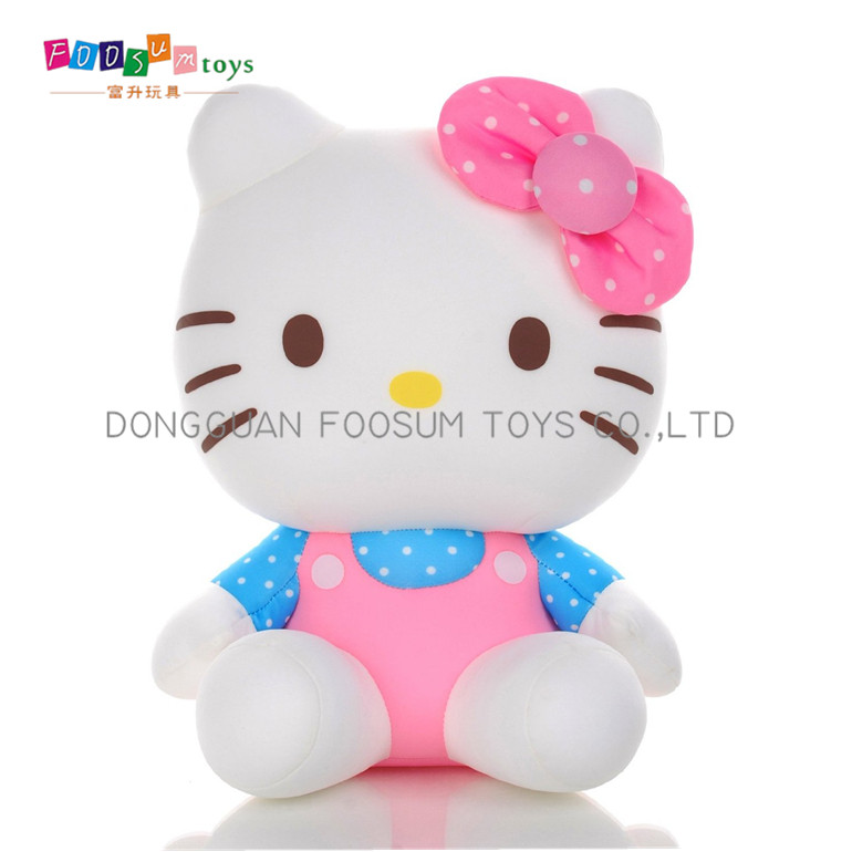 icti certificate factory plush soft toy for kid hello kitty