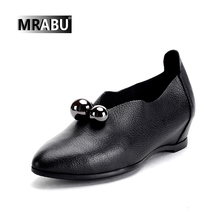 casual dresses 2017 New designer Fancy shoes pictures Beading Pleated Genuine leather women casual ladies shoe