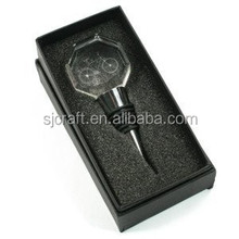 Crystal & Silver Wine Bottle Stopper With Gift Box SJ-JPS018