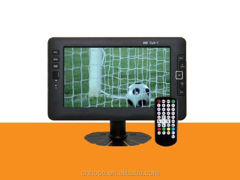 mini tv 7 inch led hd tv tv system HD DVB-T MPEG4 / H.264