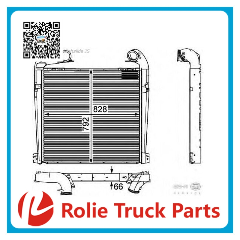 European truck auto spare parts oem 1795730 water cooling system universal intercooler for scania