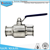 Sanitary stainless steel quick install ball valve