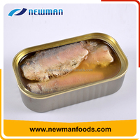 Hot selling 125g vegetable oil brine best chinese canned sardines