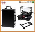 Cosmetic trolley case with lights mirror aluminum trolley make up case with lights