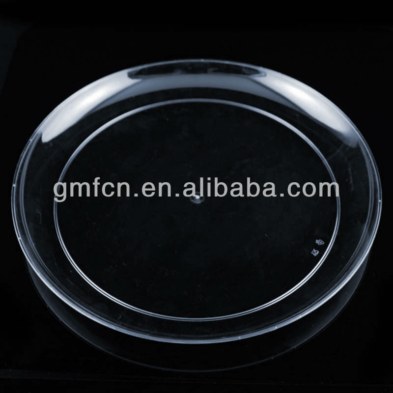 2014 factory manufacture new product hot sale pp ps black round square clear decorative party 10 inch plastic plate