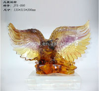 New product crystal liuli Eagle decorative