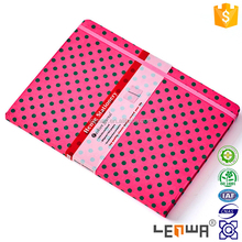 Fabric Covered Casebound Notebook With Elastic Band