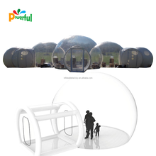 5 in 1 connection inflatable transparent bubble tent