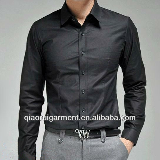 European&American style wedding wear 100%Cotton(Algodon) Slim fit official/dress long sleeve shirt for men
