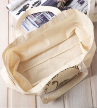 lady handbag Cotton Canvas Shopping handbags / Women shopper soft reusable canvas bag blank cotton tote bags