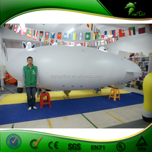 Large Inflatable RC Airship For Promotion / Inflatable White Blimp
