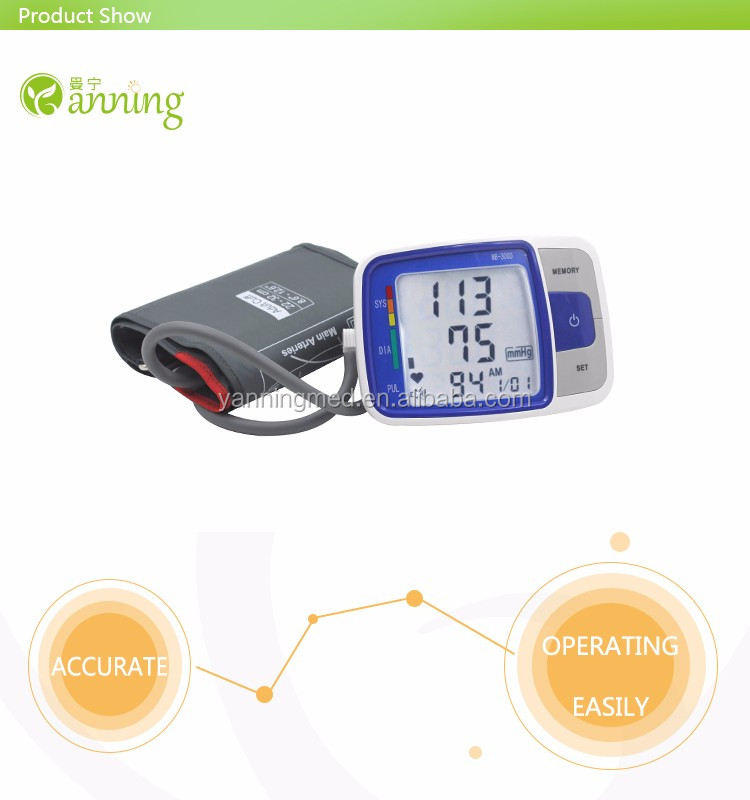 Hot sell Talking function & WHO & IHB indicator upper arm blood pressure monitor,sphygmometer