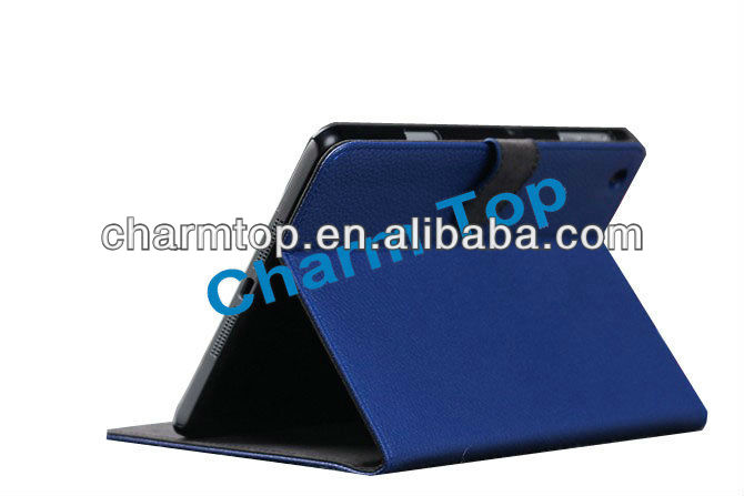 High Quality Litchi Leather Stand Cover For iPad Mini