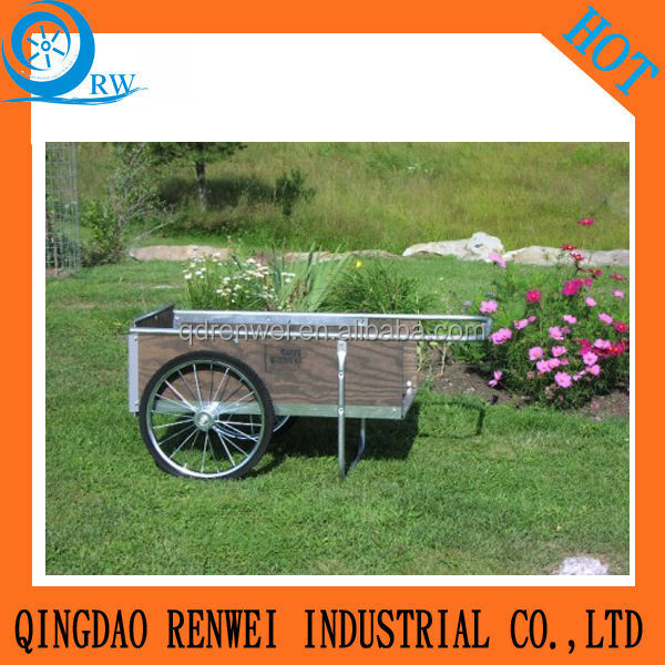 stainless steel/ wooden garden cart/tool cart