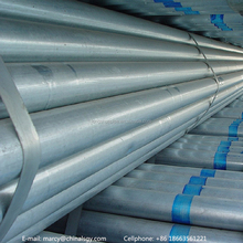 top quality ERW round shape galvanized steel pipes with best price