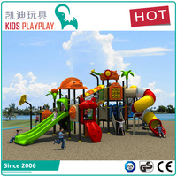 Newest children outdoor playground big slides for sale