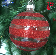 New design snow christmas glass snow ball for tree ornaments