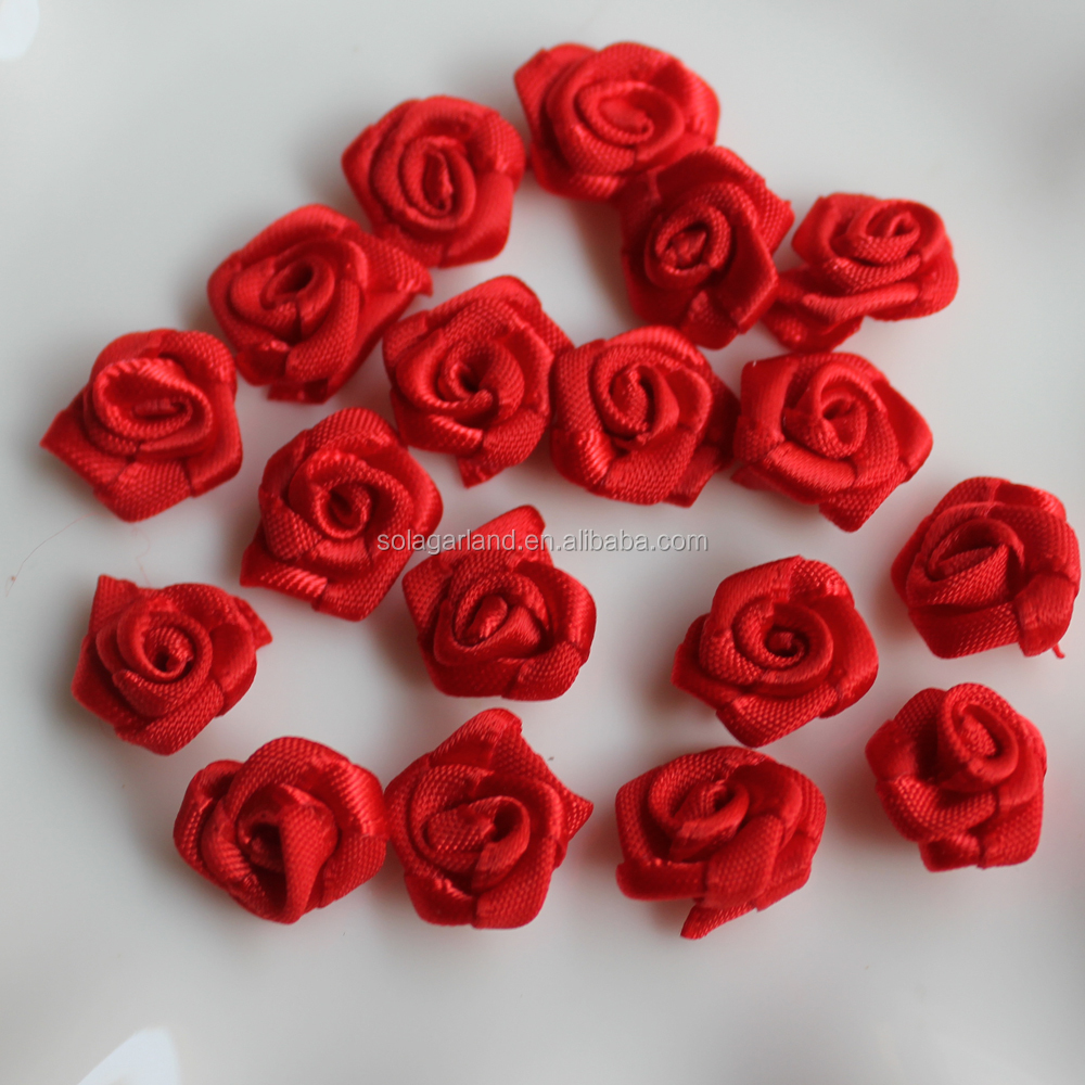 1000pcs artificial satin ribbon flower rosetrimsewing red buy 1000pcs artificial satin ribbon flower rosetrimsewing red buy artificial rosesribbon rosesribbon rose sewing product on alibaba izmirmasajfo